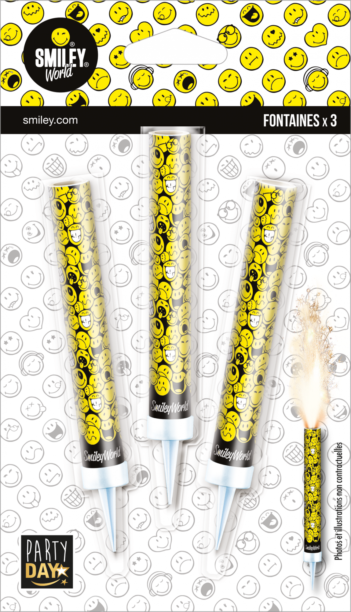 P159774-FONTAINES DES GLACES SMILEY BLACK & YELLOW